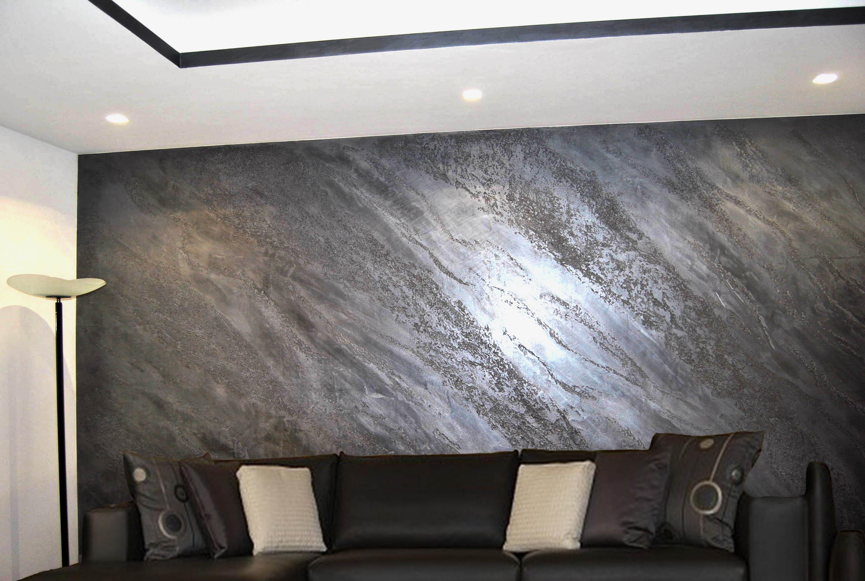 Effetto Marmo, decorazione Materica dall'effetto scenografico. Marmo nero