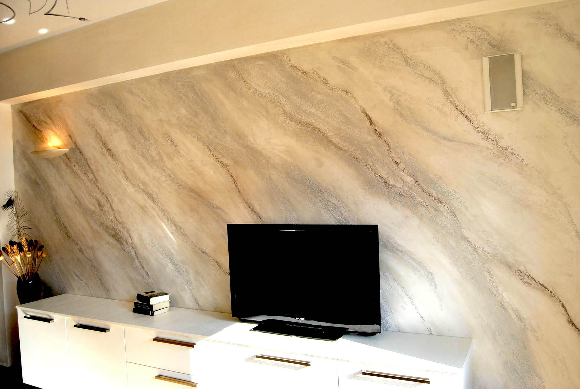 Istinto pietra spaccata stucco veneziano a milano e - Pitture per interni immagini ...